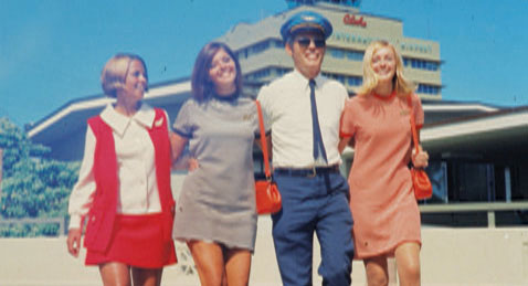Still image from The Stewardesses.