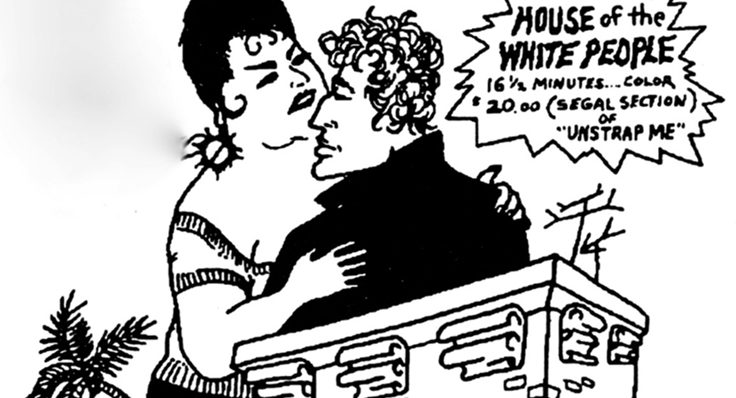 cartoon of a man and women from the film Unstrap Me.