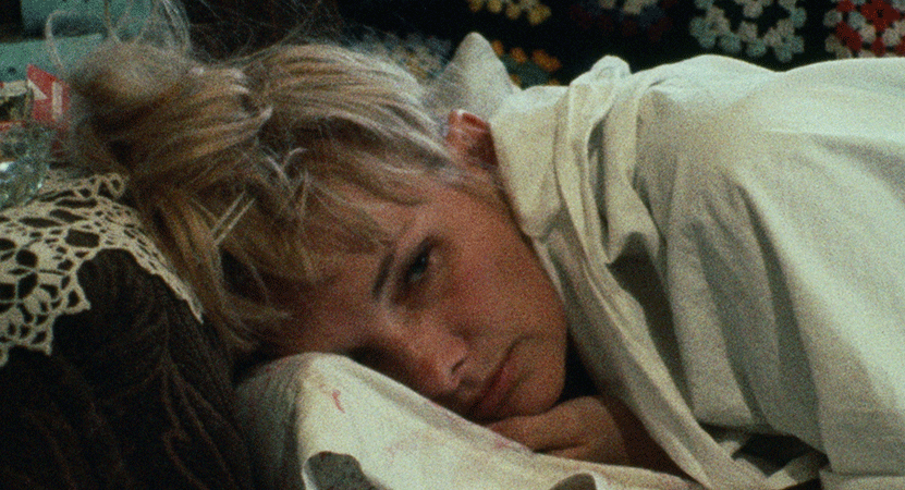 a woman lays in bed from the film Wanda.