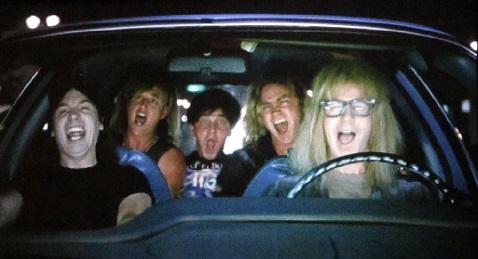 Still image from Wayne's World.