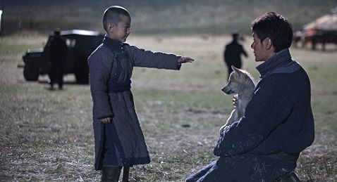 Still image from Wolf Totem.
