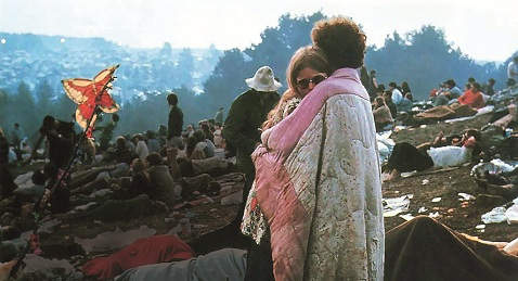 Still image from Woodstock.